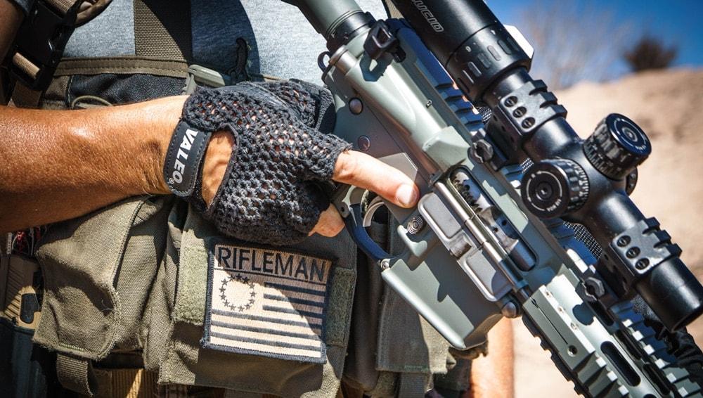 Lucid Optics' L7 scope on the author's AR. (Photo: Kirk Wheeler)