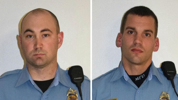 Minneapolis Police Department officers Mark Ringgenberg, left, and Dustin Schwarze. (Photo: Minneapolis Police Department)