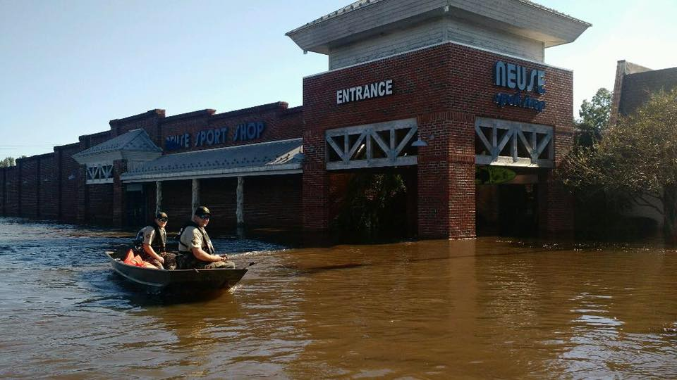 Retailers and ranges in the Carolinas were hit hard by massive flood waters resulting from heavy rainfall. (Photo: Neuse Sport Shop/ Facebook)