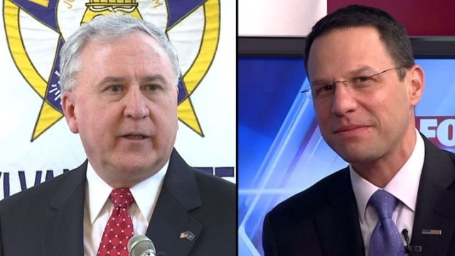 John Rafferty and Josh Shapiro are nominees for Pennsylvania Attorney General (Photo: WPMT)