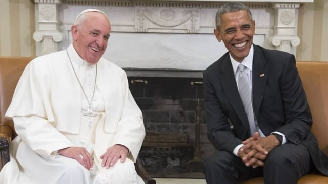 Pope Francis, shown above in his visit to the White House last summer, has named his first Catholic cardinals from the U.S. over the weekend. (Photo: AFP)
