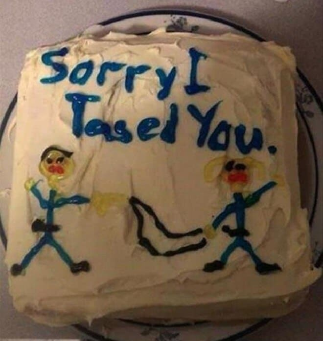 Following a Taser deployment over an iced tea squabble, a Florida deputy sent a picture of a cake as an apology, but he has since been barred from working in law enforcement for a year and is facing a federal lawsuit. (Photo: Pensacola News-Journal)