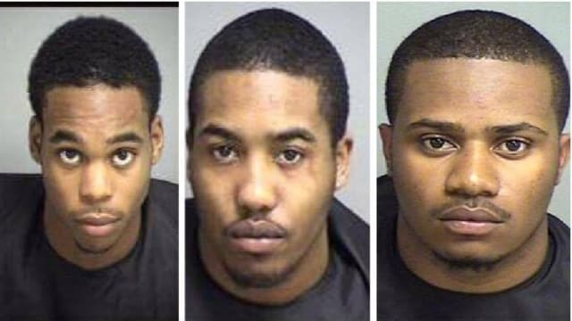 Jaquan Harris, Kwamane McCoy, and Dequan Kelso were sentenced yesterday in the break-in of TNT Outfitters in Appomattox (Photo: Appomattox County Sheriff's Office via WSET)
