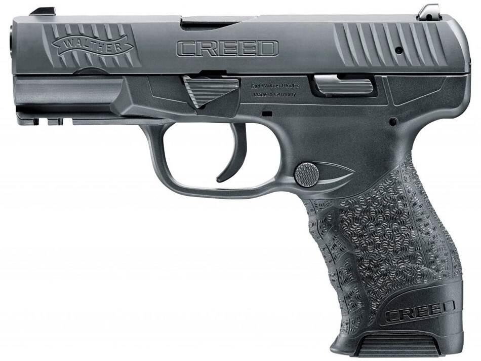 The Walther Creed polymer-framed pistol chambered in 9mm. (Photo: Walther Arms)