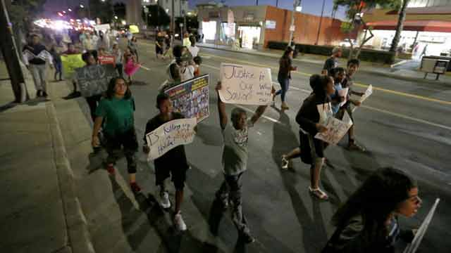 Los Angeles shooting protesters