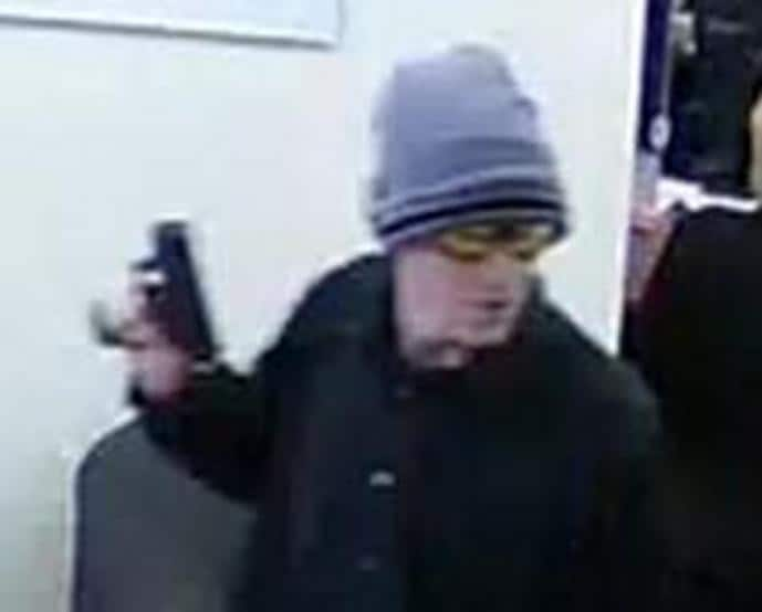 This guy has pulled at least nine robberies in California over the past few years. During the commission of most of the robberies, the suspect has worn dark-colored clothing and a hat--frequently a knit cap and has carried a backpack or messenger-style bag. He wore a dust mask during the Walnut Grove robbery and wore wrap-around, sport-style sunglasses during the May 9, 2016, robberies in Weaverville and Durham.