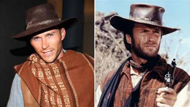 Scott Eastwood and Clint Eastwood comparison