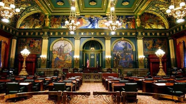 The Senate chambers at the Pennsylvania State Capitol (Photo: Pennsylvania General Assembly)
