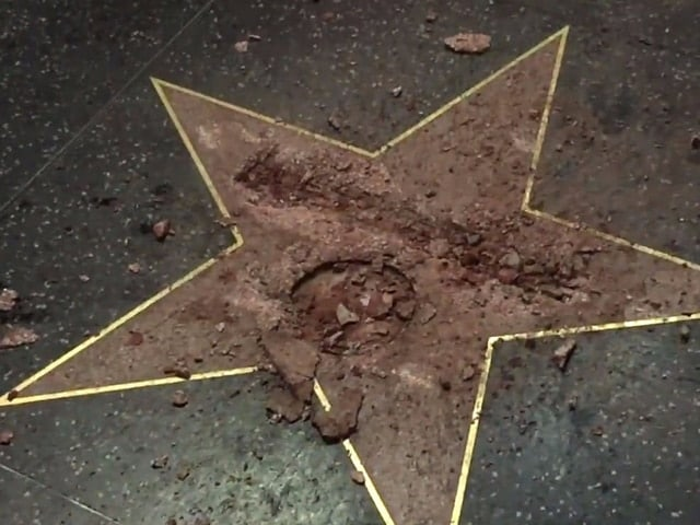 Donald Trump star destroyed