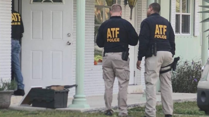 ATF agents at a home in Pompano Beach on Wednesday morning. (Photo: Sun Sentinel)