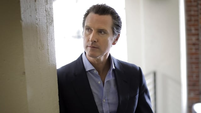 Lt. Gov. Gavin Newsom has enshrined a host of new gun control laws with the help of voters, but may have to defend their legality when compared to the Second Amendment. (Photo: Carlos Avila Gonzalez/ The San Franciscio Chronicle)