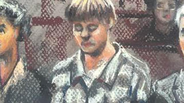Dylann Roof as he appeared in court during a jury selection hearing in September 2016.