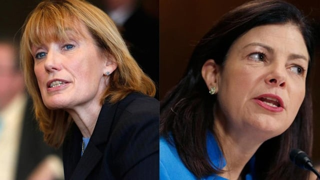New Hampshire Gov. Maggie Hassan, left, and U.S. Sen. Kelly Ayotte. (Photo: Boston Globe)