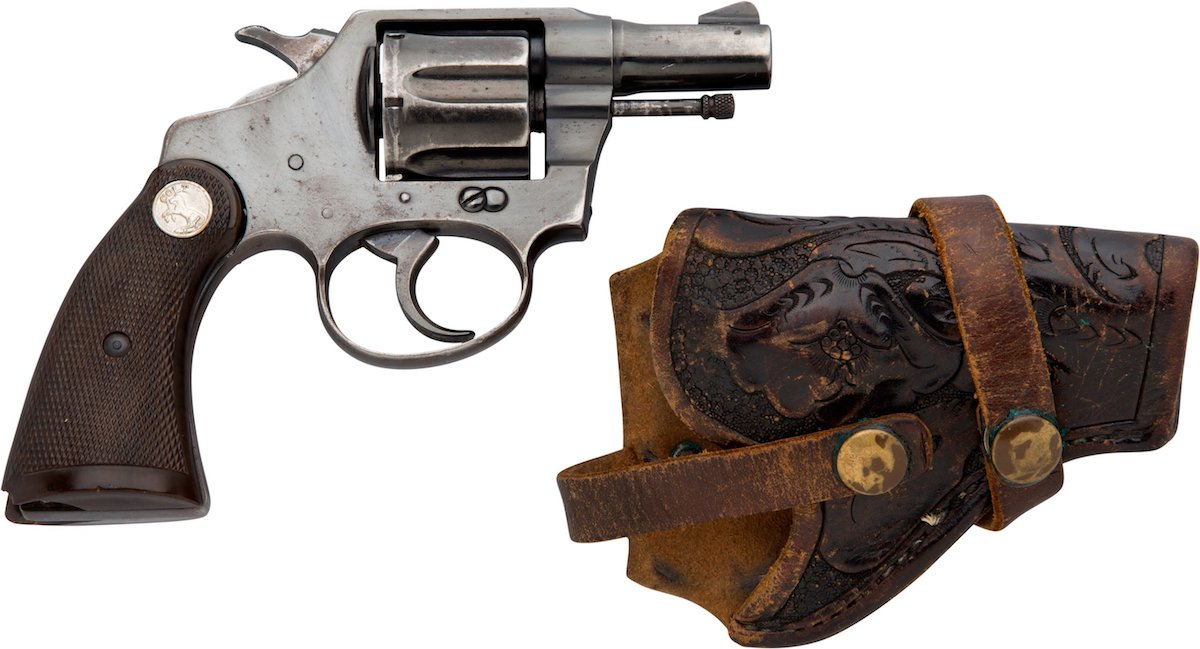 Jerry Hill was wearing the Colt revolver and holster at the time of Lee Harvey Oswald's arrest in 1963. (Photo: Heritage Auctions)