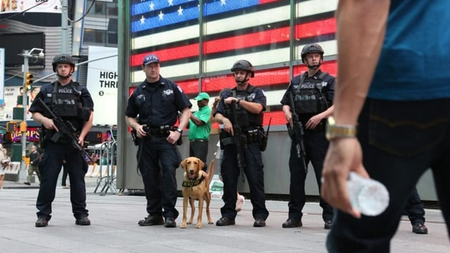 Security in New York City during the week of the presidential election. (Photo: NYPD)