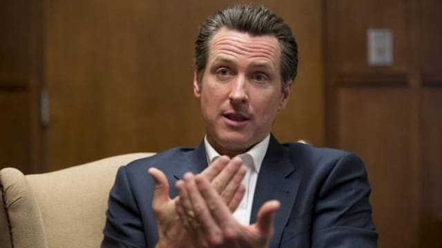 California Democrat Lt. Gov. Gavin Newsom was able to get his Prop. 63 ammo regulation measure, approved by voters. (Photo: Merced Sun-Star)