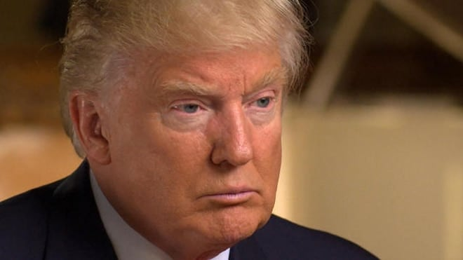 Donald Trump was a bit more soft-spoken during an interview just days after he was elected president. (Photo: CBS)
