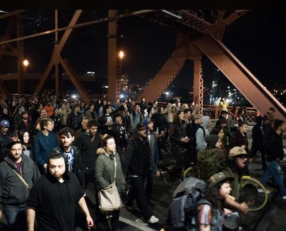 Portland protests crowd