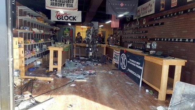 gun shop smash and grab