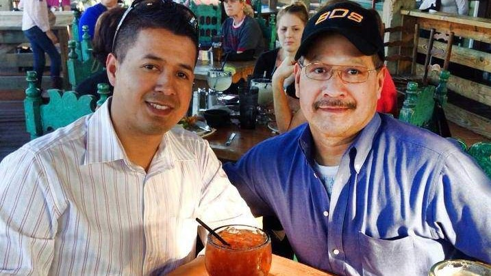 Slain Dallas Police Officer Patrick Zamarripa, left, and his father, Enrique Zamarripa, right (Photo: Facebook)