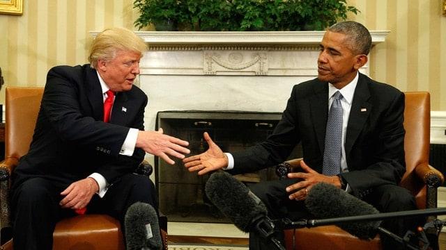 Donald Trump Barack Obama meeting
