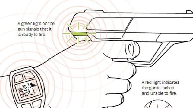 A diagram of how a smart gun operates. (Photo: Violence Policy Center)