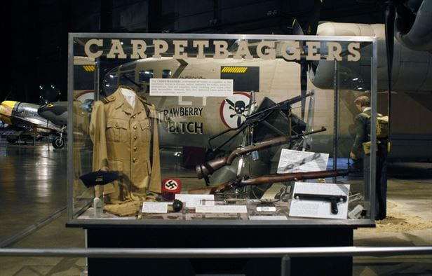 Allied aircraft, including those shown at the Operation Carpetbagger exhibit at the Natonal Air Force Museumhere, dropped over 20,495 containers and 11,174 packages of vital supplies to the resistance forces in western and northwestern Europe in 1944 and 1945 alone ranging from batteries and radios to guns and explosives. (Photo: U.S. Air Force)