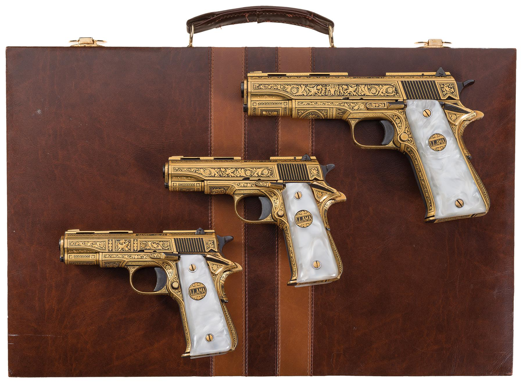 When someone talks about the old Llama pistols they have, you don't ordinarily think of these. (Photos: Rock Island Auctions)