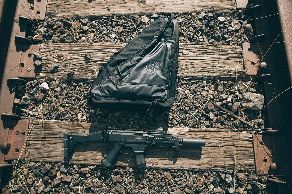 Just the thing for a quiet walk: a CZ EVO Scorpion SBR with a tubeless Omega 9K can (Photos: SilencerCo)