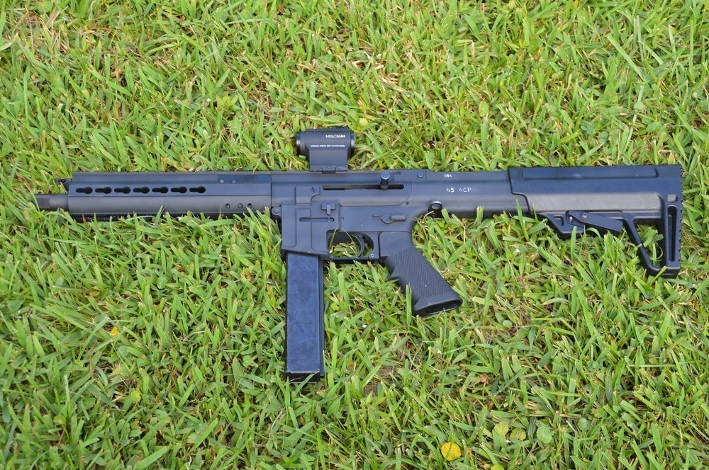 The SBR is just 24.9-inches overall and is proving popular with police entry teams