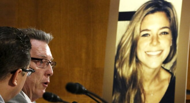 Kathryn Steinle's father Jim Steinle, testifies about his daughter's murder during a hearing of the Senate Judiciary Committee on immigration enforcement (Photo: Reuters)
