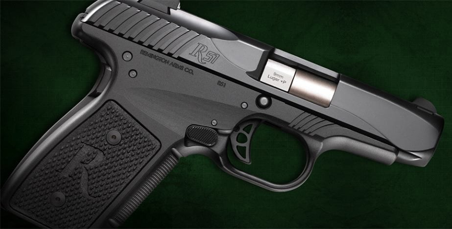 The new version of the Remington R51 pistol introduced in August 2016. (Photo: Remington)