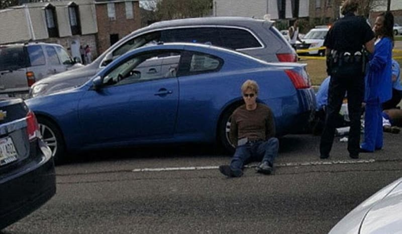 Ronald Gasser was arrested at the scene after allegedly shooting McKnight three times. (Photo: Fox 8 viewer)