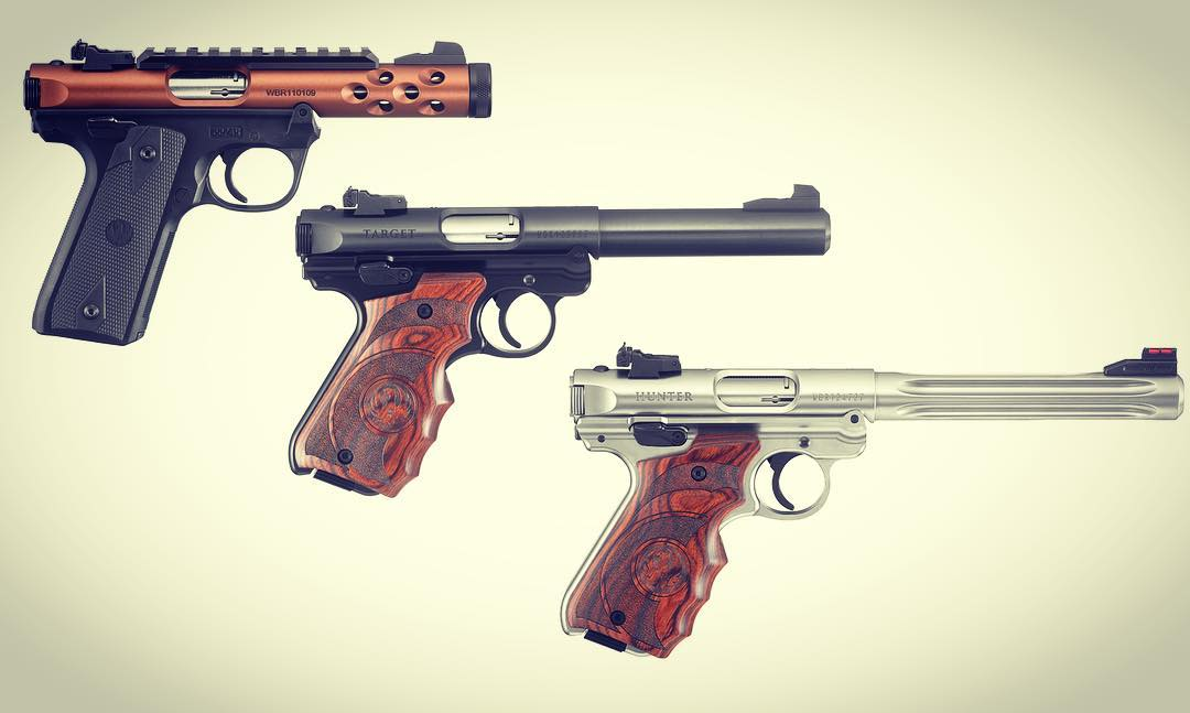 Ruger is adding new models to their Mark IV line to include wrap around target grips and a 22/45 Lite version. (Photos: Ruger)