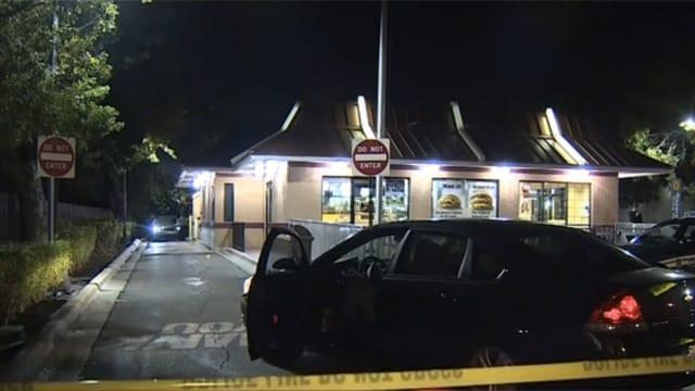 McDonald's drive thru shooting