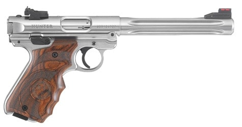The new Hunter brings wrap around wood grips with it...
