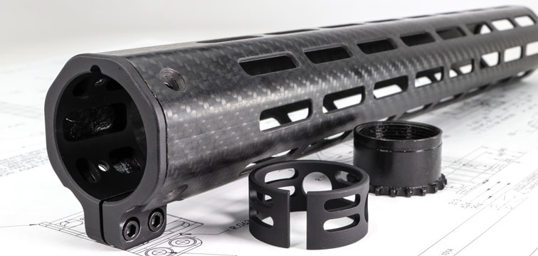 The carbon fiber design offers shooters a lightweight but extremely durable rail system that can survive harsh and rugged environments. (Photo: Faxon Firearms)