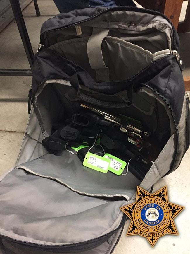 stolen guns in a bag