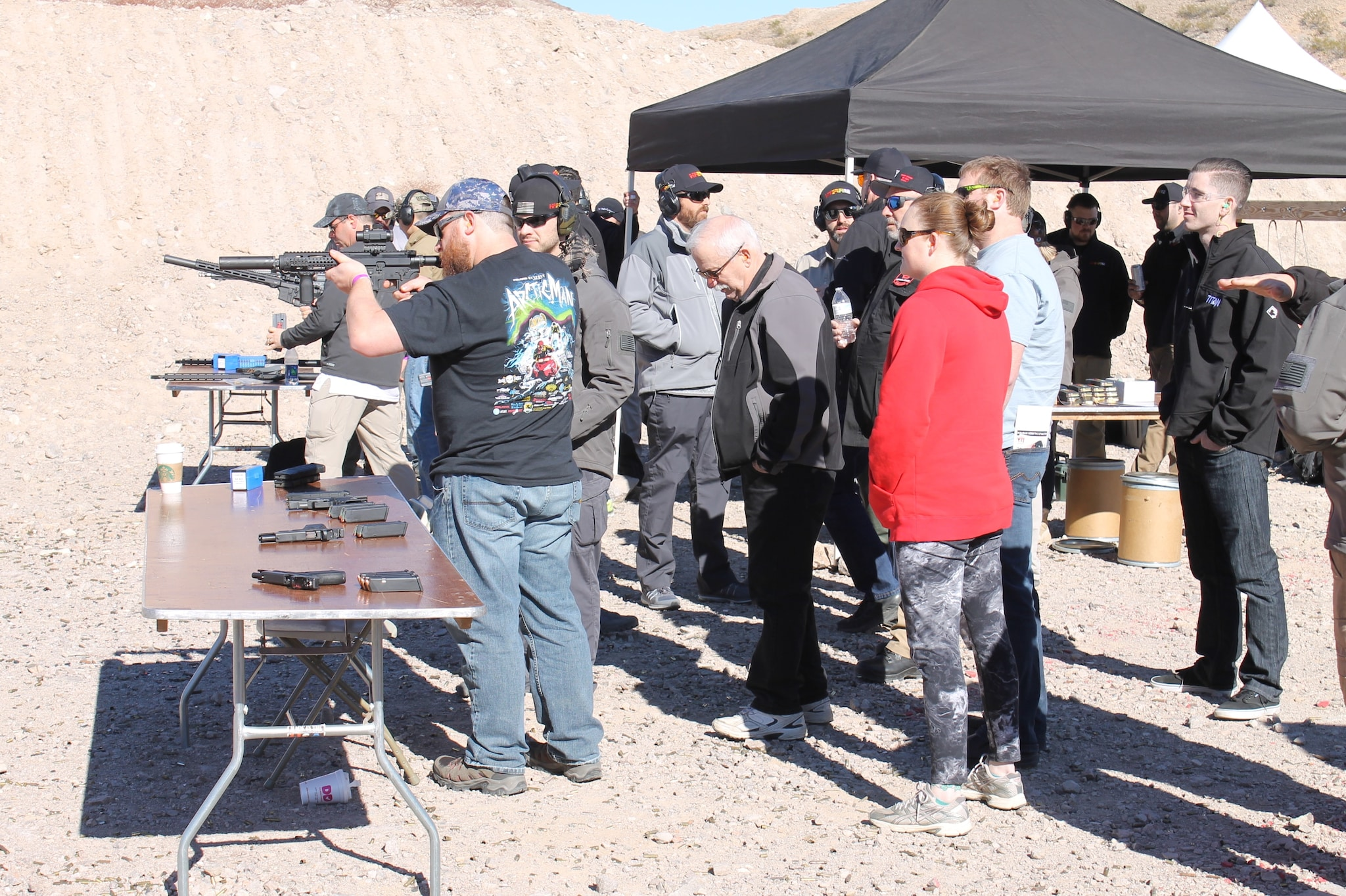 Patrons test new products at the Anteris Alliance Try & Buy event just prior to SHOT Show 2017.