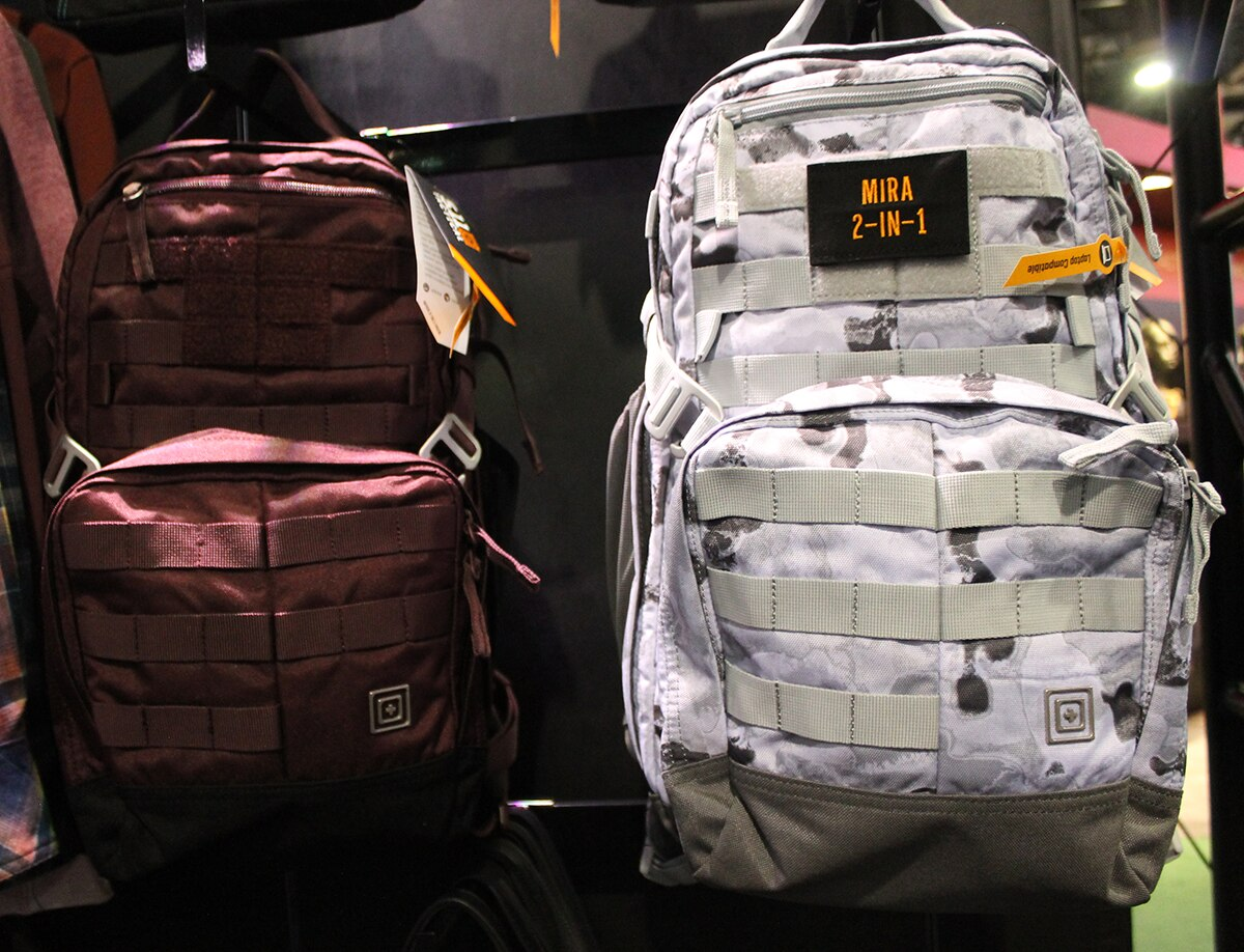 The Mira 2-in-1 Pack comes in -- you guessed it -- that new berry color as well as white. The packs features a crossbody design that does not interfere with concealed carry. (Photo: Jacki Bililngs)