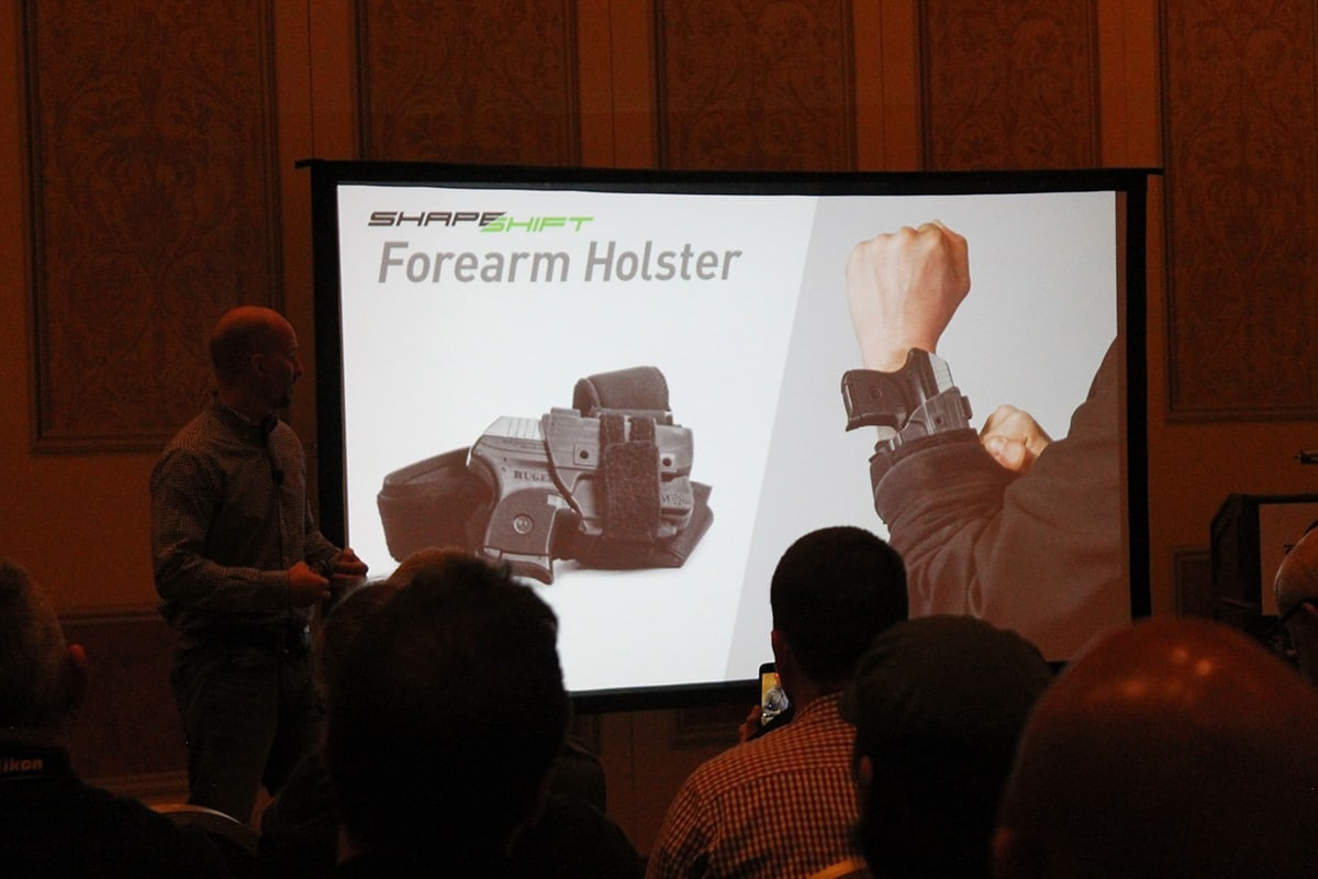 Included in the new offerings is a forearm holster rig. (Photo: Jacki Billings)