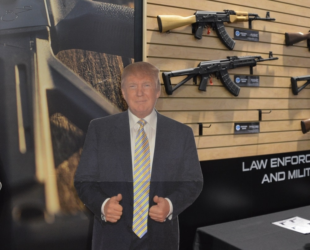 Century Arms, an importer of a number of guns from overseas, featured a Trump standee at their SHOT Show booth last week. (Photos: Chris Eger/Guns.com)