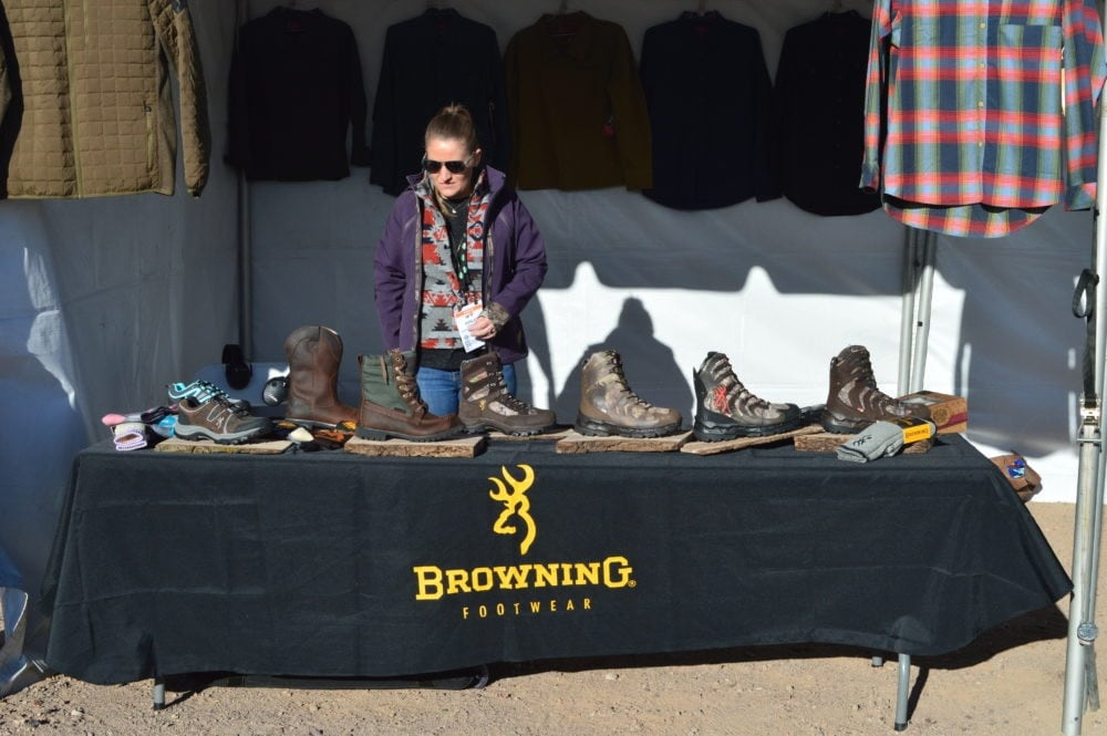 Browning showed off plenty of Buckmark-licensed products, including this full new line of boots and shoes ranging from hardcore hunting to casual wear. (Photo: Kristin Alberts)