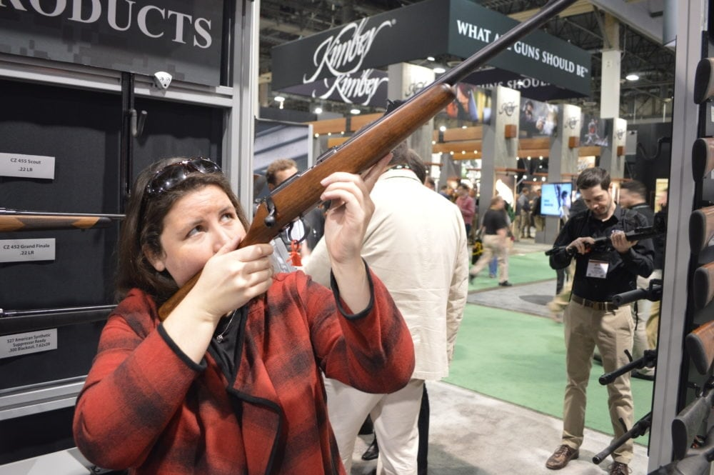 """CZ's biggest news in rifle introductions is actually its smallest gun. The 455 Scout is an ideal first gun for a young shooter with a 12"""" LOP. But the 22LR can be converted to 17HMR, and best of all, can be dropped into any of CZ's full size 455 stocks as the shooter grows, making the Scout a lifetime gun with an MSRP of $399. (Photo: Kristin Alberts)"""