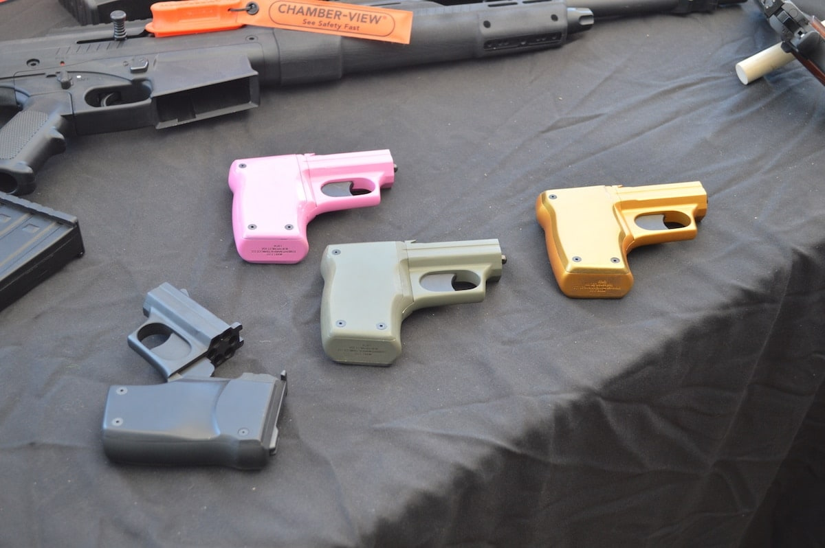 Standard Manufacturing got some buzz on range day with their cheerfully colored Volleyfire line.(Photo: Kristin Alberts)