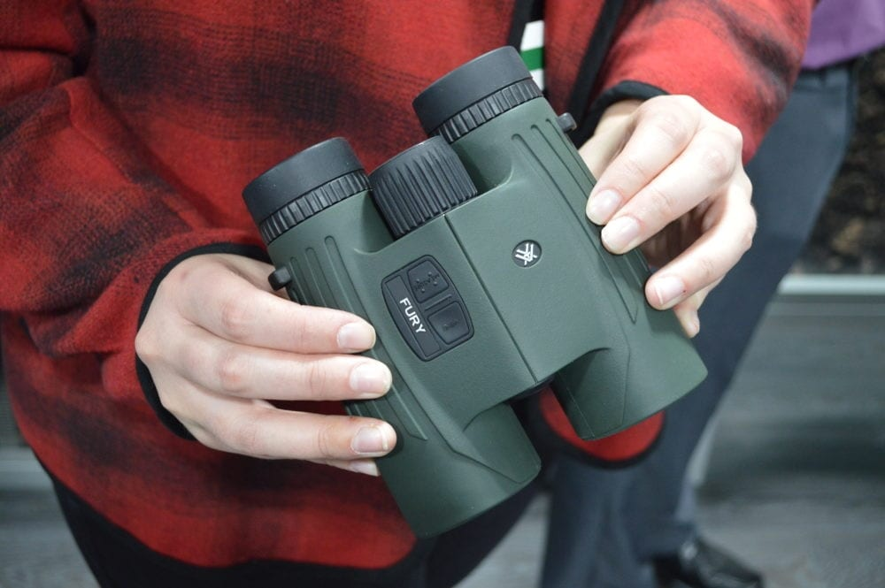 Vortex also made their first entry into the rangefinding binocular market with these Fury binos. (Photo: Kristin Alberts)