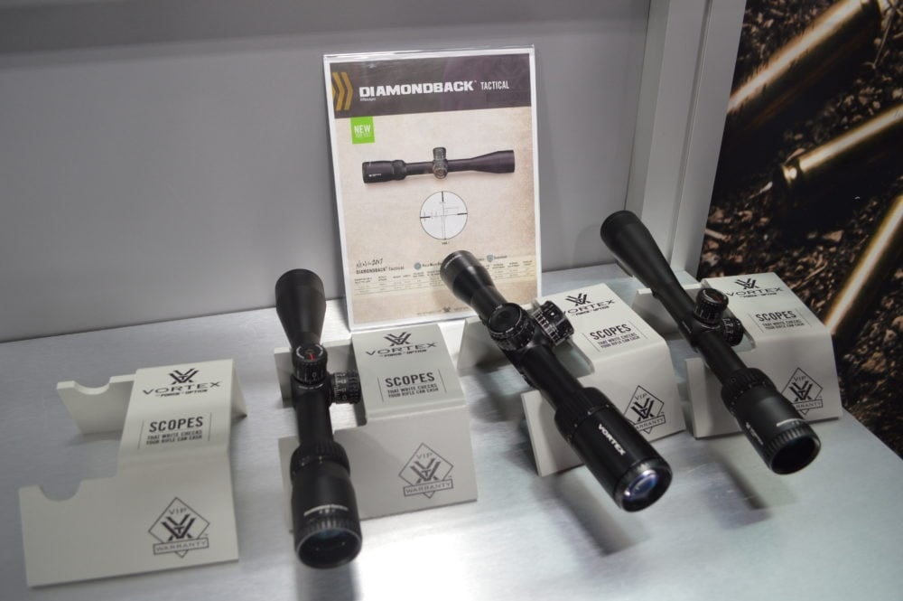 Vortex Optics showed off their new Diamondback riflescopes (Photo: Kristin Alberts)