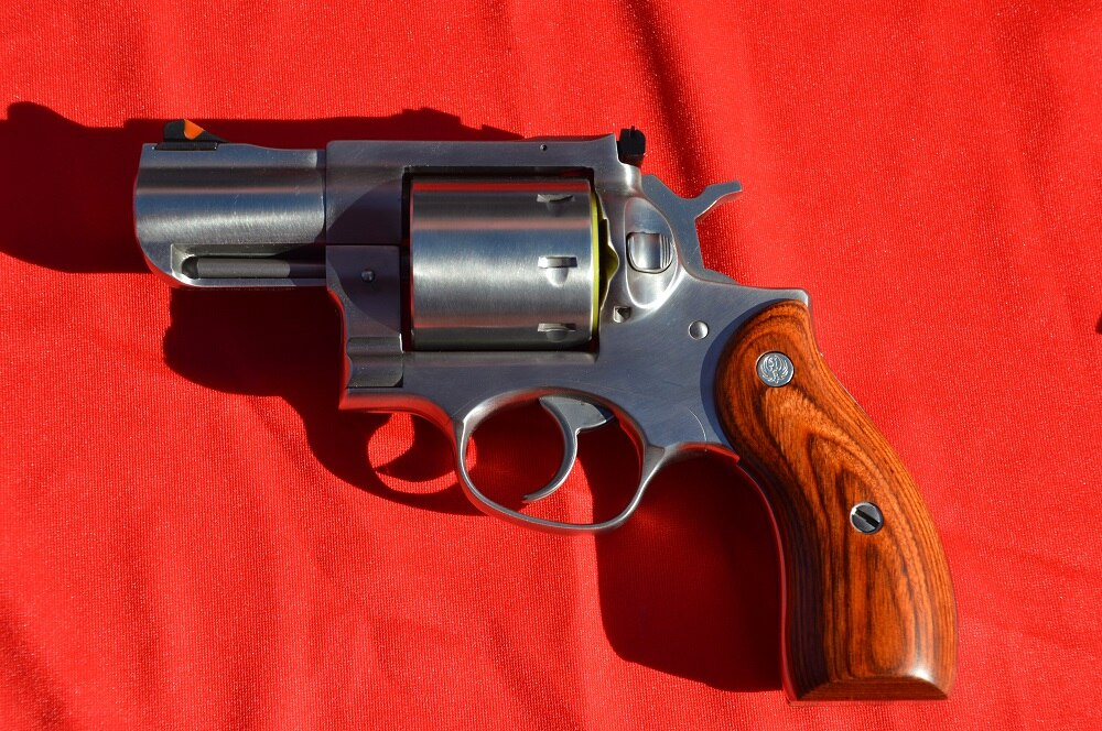 Next up on new wheelgun variants is the ordinarily beefy Redhawk with an abbreviated 2.75-inch barrel.