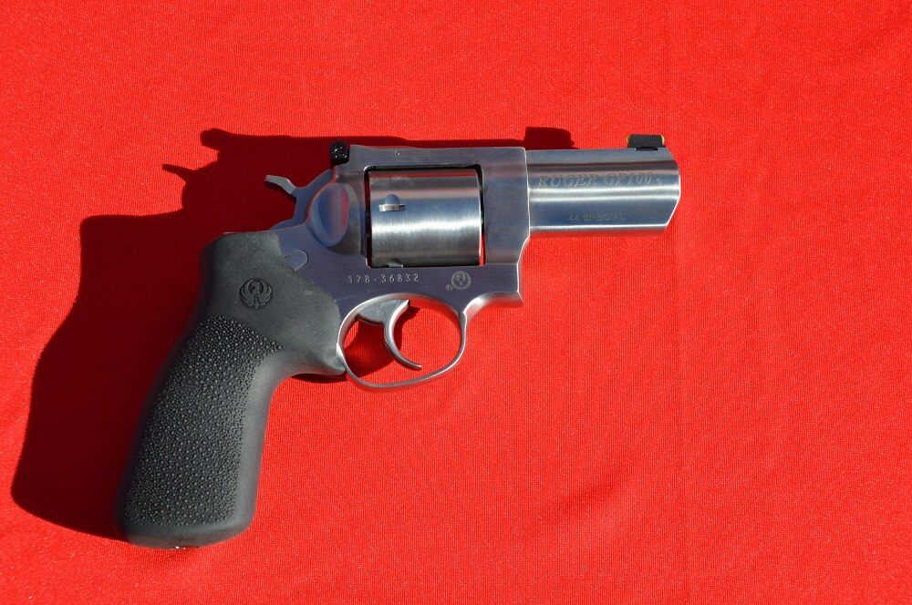 Ruger's long-running GP100 model now has a 5-shot .44SPL model available with a 3-inch barrel.