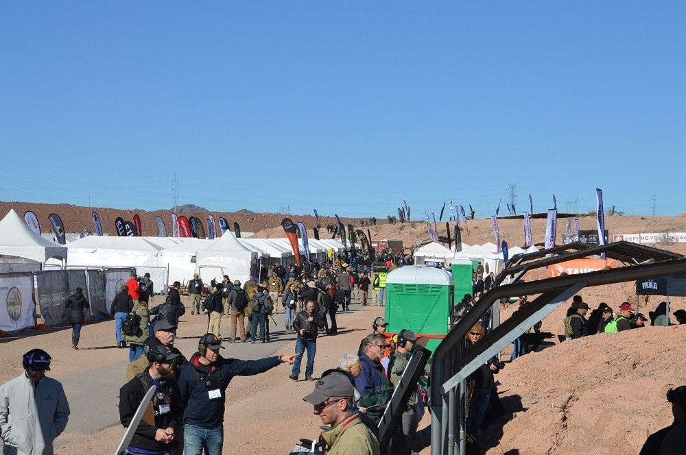 "Every one of those flags is an exhibitor, and this is only a small portion of the ""Strip"" at Boulder"
